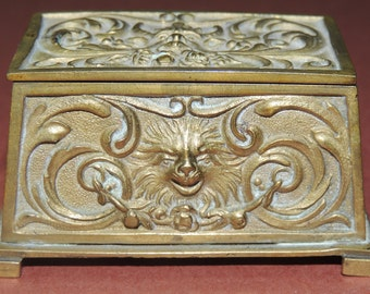 Antique Brass Match Box