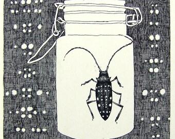 Original drawing - Gomadara in the bottle