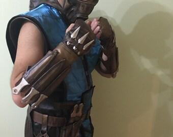 Sous les accessoires Cosplay Zero / cosplay armure Sub Zero / Sub zéro masque, ceintures, bracelets, poniards et jambières, couteaux