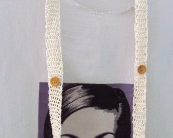 Long crocheted necklace with beads