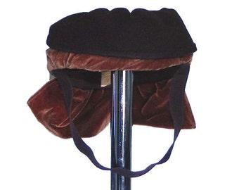 Vintage 1940's Brown Tilt Hat