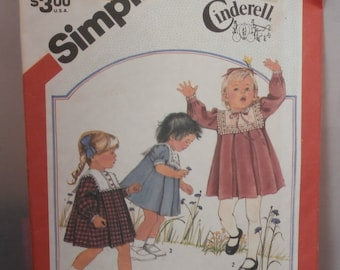 Simplicity Sewing Pattern 6183 Cinderella Toddlers' Dress Size 2 UNCUT