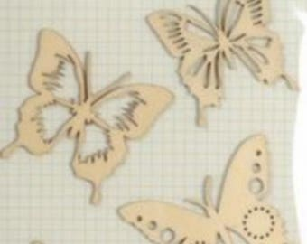 Wooden Butterfly motif for decoration