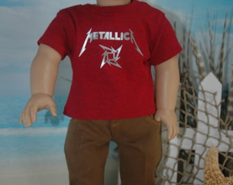 American, Made, boy, girl, doll, rust, jean, fit, 18 inch, doll, pants, doll clothes