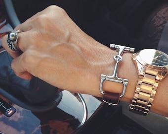 Equestrian Bracelet, Horse Bracelet, Silver Snaffle Bracelet, Snaffle Bit Bracelet, Gift For Her