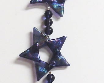 3 Star Ornament Fused Stained Glass