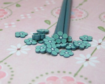 Green Flower polymer clay cane  uncut 1pc for scrapbooking decoden crafts miniature foods kawaii projects and nail art supplies