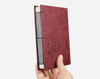 Writers Journal· Lined Notebook· Journal Diary· Watercolor Sketchbook· Travel Journal· Faux Leather· Red· Art Journal· Handmade Book· A6