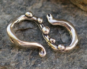 Sterling Silver  S Hook Clasp Connector Link, SH1
