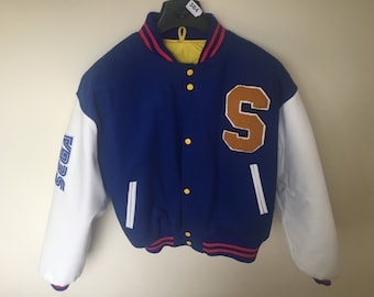 Rare 1990's Sonic the Hedgehog 2 SEGA Staff Varsity Jacket