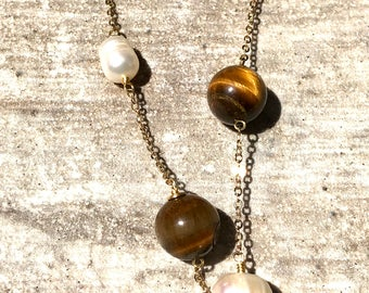Autumn Marbles Collection Handmade necklace.