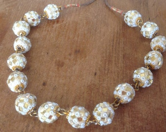 Bohemian Mirrored Bead Necklace, Made in India