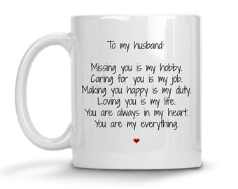 To My Husband Mug - Funny Husband Coffee Mug - Wife To Husband Gift - Husband Cup - Wedding Anniversary Gift - Husband Valentine's Day Gift