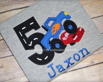 Monster truck birthday shirt, monster truck party, smash birthday, boy birthday shirt, first birthday, second birthday, third birthday