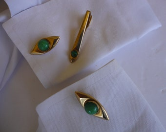 Anson Cuff Links And Tie Clip Set