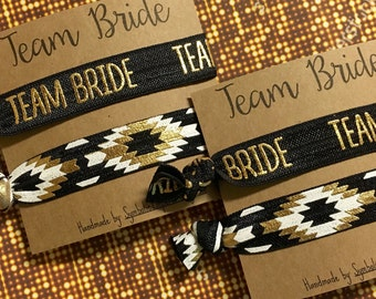 Team Bride Hair Tie Party Favors - Bachelorette Party Favors - Bachelorette Hair Tie - Team Bride Favors - Team Bride Gift