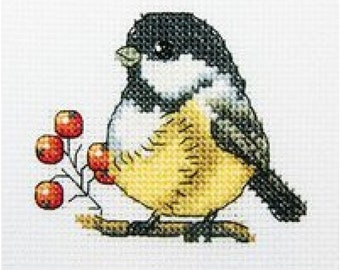 "Cross stitch kit ""Titmouse"""