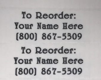 "LipSense ""Reorder"" Labels"