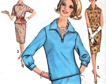Simplicity 5021 sewing pattern // Misses Two Piece Dress - blouse and skirt