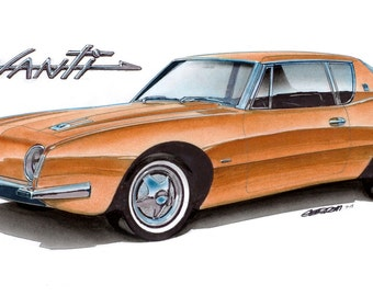 1963 Avanti 12x24 inch Art Print by Jim Gerdom