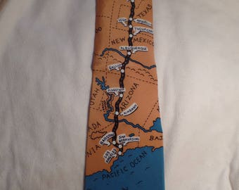 Route 66 Men's Neck Tie-Noel Strand