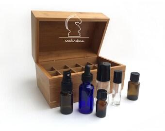 Essential Oil Box Bamboo — Mini Plain SLIGHTLY IRREGULAR