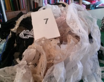 Gallon Bag of Lace Remnants