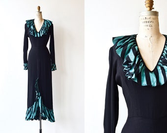 Highborne dress | long 1930s dress | vintage 30s evening dress