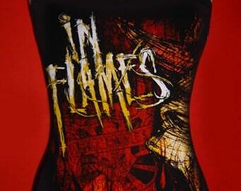IN FLAMES diy tank top reconstructed metalcore death metal shirt xs s m l xl