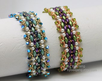 PDF Tutorial - Yuliana Bracelet Instant download Beadweaving Instruction Beading Pattern