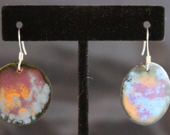Enameled Copper Earrings (022017-039)