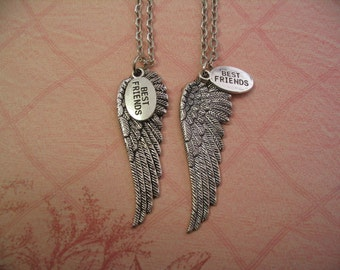 Angel Wings Best Friends Necklace Set Jewelry for Sisters or Friends Gift