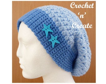 Slouchy Hat Crochet Pattern (DOWNLOAD) CNC20