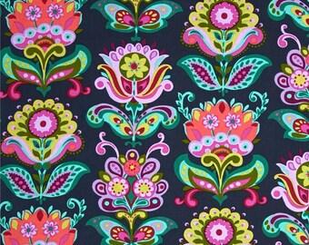 Navy Floral Minky Blanket, Navy Blue Minky, Stroller Blanket, Security Blanket, Floral, Modern Minky Blanket, Baby Blanket, YOU CHOOSE size