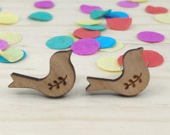 Whimsical Bird Stud Back Earrings
