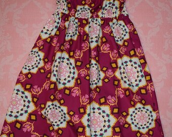 ON SALE! Cranberry Kaleidoscope nelle dress, size 12mos.- 8 girls