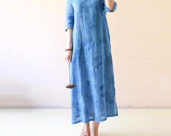 Linen dress,full length dress, maxi dress ,linen clothing