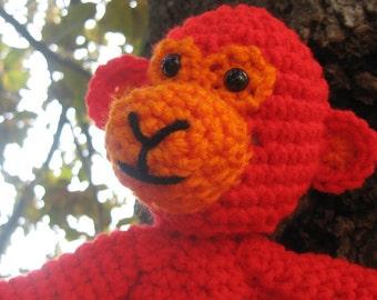 Otis the Orange Monkey Amigurumi Crochet Plush Toy