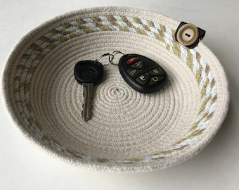 Cotton Rope Basket - Rope Basket - Coiled Rope - Rope Storage Basket - Storage Basket - Bathroom Storage