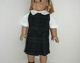 18 inch Doll School Uniform Jumper plaid 79