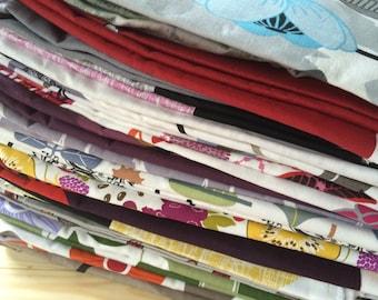 15 pcs Scandinavian fabric remnants - scraps - samples - Cotton fabric