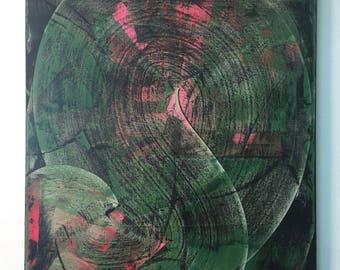 "Abstract acrylic original painting #5 (24x30"")"