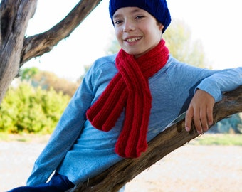 Boy's Hat and Scarf / Scarflette Set by Sheeps Clothing