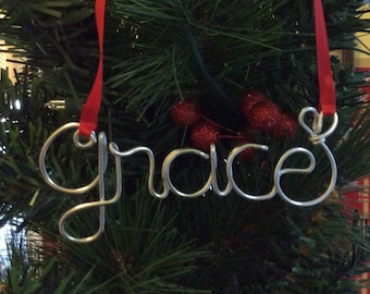 Christmas gift,Grace ornament,Personalized Baby's First Christmas Ornament, Personalized Ornament, christmas ornaments handmade