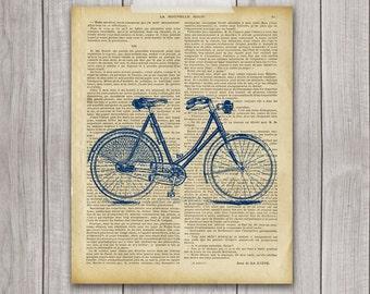 Bicycle Print - 8x10 Bike Print, Bike Vintage, Vintage Print, Bike Decor, Printable Art, Bicycle Art, Bicycle Decor