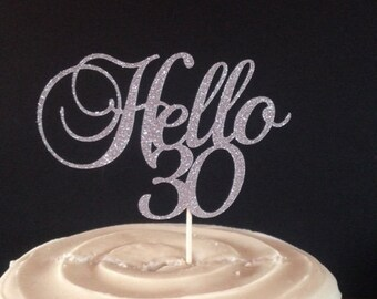 Happy Birthday ANY age (Anniversary Too!)  Cake Topper in Sparkling Glitter!
