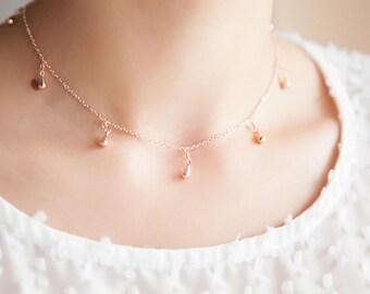 Rose Gold Choker, Rose Gold Necklaces, Rose Gold Boho Necklace, Rose Gold Choker Necklace, Boho Choker Necklace Rose Gold, Gift for Her