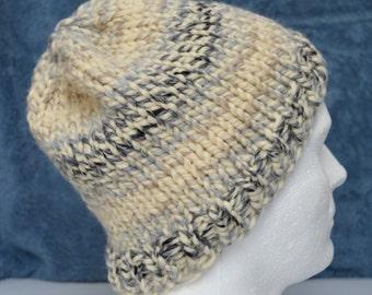 Warm Winter Hat, Winter Beanie, Hiking Hat, Ski Hat, Watch Cap, Gender Neutral Toque, Mens Winter Beanie, Boyfriend Hat,  Ready to Ship,