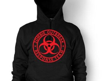 Zombie Outbreak Response Team Hoodie Dead Zombie Walkers Hunter Sweatshirt
