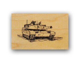 Army Tank mounted rubber stamp, military, troops, USAF, Crazy Mountain Stamps #4